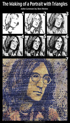 Making of - John Lennon (Ben Heine) Tags: uk portrait musician texture love face rock triangles hair rebel glasses colours geometry modernart famous politics fame tracks violet romance popart help albums tragedy singer imagine mauve writer pace halloffame why lover yesterday author johnlennon lunettes immortal legacy guitarist murdered tutorial activist yokoono rockandroll yellowsubmarine musique thebeatles visage eternal songwriter paix stepbystep controversial eleanorrigby letitbe givepeaceachance seanlennon speedpainting ladymadonna heyjude mybonnie tapes ferncliffcemetery