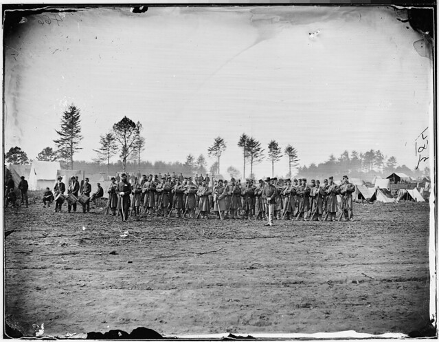 Infantry on parade by The US National Archives