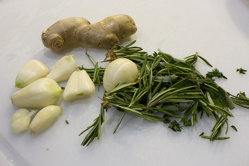 herbs garlic and ginger