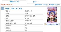 091217(2) - 漫畫『航海王 ONE PIECE』總共56集單行本,破天荒全部擠進ORICON「漫畫類」銷售週排行前200名!