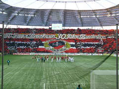 Leverkusen - M'gladbach P1100018 (FLASH.light Fotografie) Tags: football fussball soccer fans ul supporters mnchengladbach bundesliga ultras tifo bayer leverkusen dfl gladbach fusball dfb choreo bayarena nordkurve mgladbach