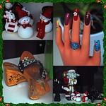 1 - 20 décembre 2009 Maisons-Alfort Rue du Maréchal Juin Manucure-Pédicure Vitrine de Noël thumbnail