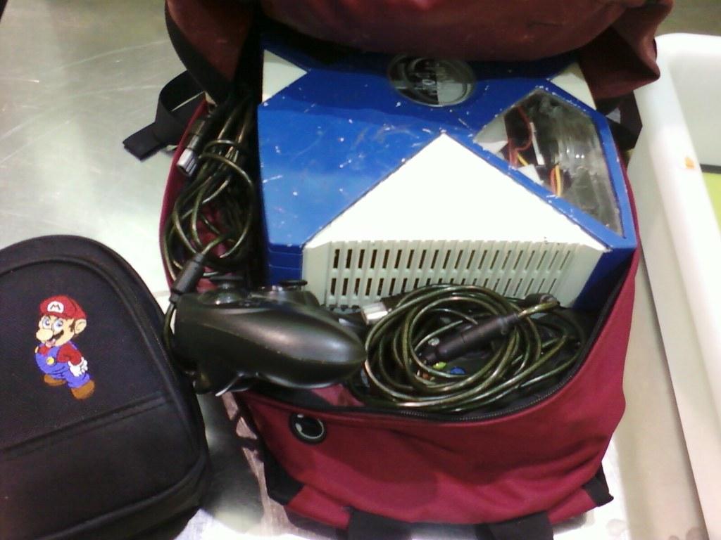 TSAs @ LAX thought I like to play Bomberman IRL.