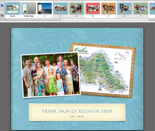 A custom photo book via iPhoto