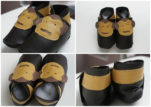 lederen apenslofjes / Leather monkey booties