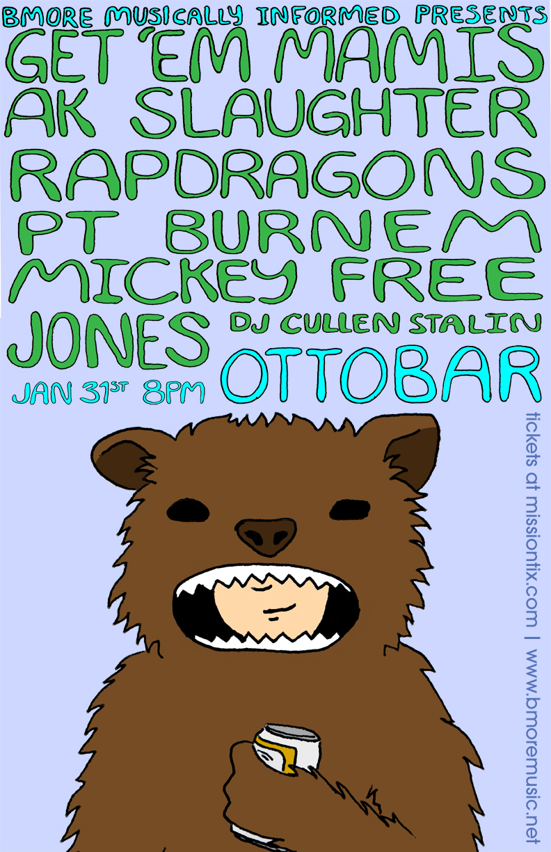 January 31 at the Ottobar
