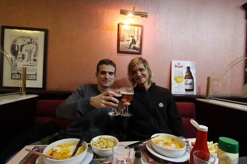 Cheers with Sebastien in Lille...