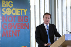 David Cameron speaking at the Big Society conference in March 2010