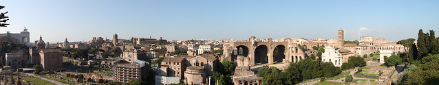 Rome. Panorama from Palatine Hill