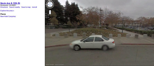 Google street view of Nevin Plaza before renovation.