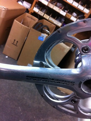 Campy Compact cx chainring guard