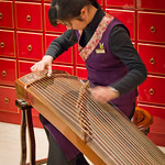 Traditional musician, Hong Kong.