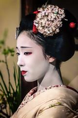 Mamefuji- Portrait (Rekishi no Tabi) Tags: mamefuji maiko apprenticegeiko apprenticegeisha geisha geiko kyoto gion japan sony