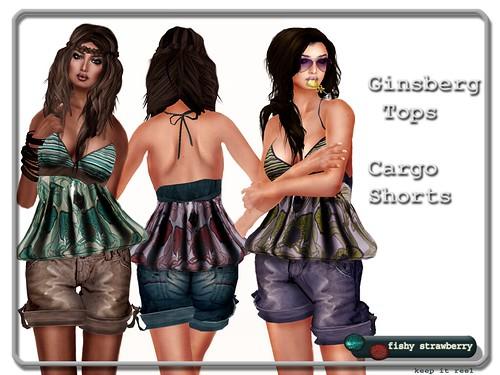 Ginsberg Tops - Cargo Shorts