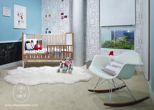 ella+elliot's Modern Toddler Room for Tas Design Build III par ella+elliot   Toronto   Canada
