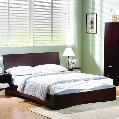 Platform Bed Cherry Wood Finish