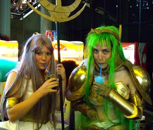 Athéna et chevalier