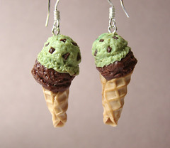Mint Chocolate Earrings