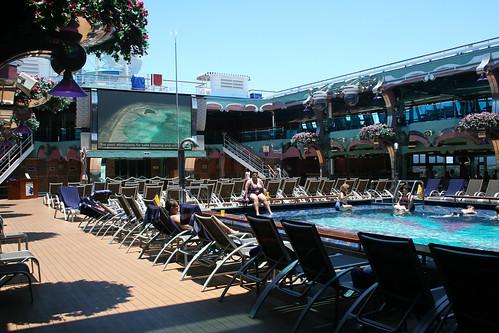 Lido Deck TV and Pool (Carnival Splendor)