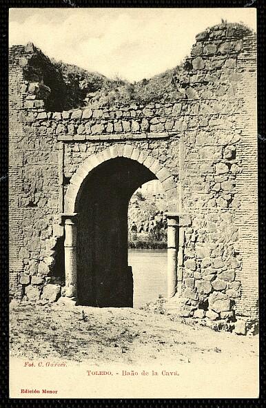 Baño de la Cava (Toledo) a principios del siglo XX. Foto Garcés