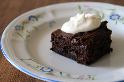 Fig Brownies w/ Brown Sugar Whipped Cream