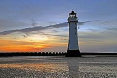 Perch Rock Lighthouse in New Brighton (Steve Wilson - over 8 million views Thanks !!) Tags: ocean new sunset sea sky lighthouse water rock clouds geotagged nikon brighton long exposure dusk tripod perch d200 peninsula geotag wirral newbrighton nikond200 perchrock perchrocklighthouse