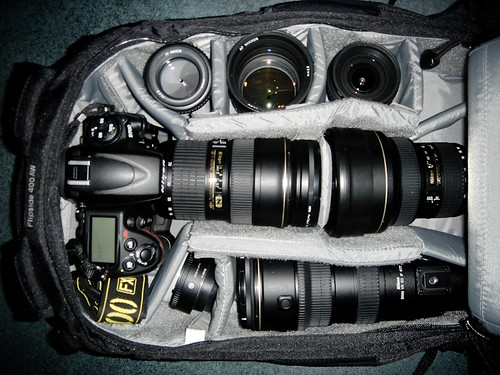 What can you fit in Lowepro Flipside 400 AW