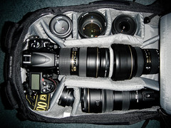 What can you fit in Lowepro Flipside 400 AW (Kent Yu Photography) Tags: camera bag nikon gear mini collection backpack aw lowepro trekker d700 flipside400