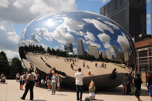 This is The Bean in Millennium Park. Which is very cool in a Magritte surreal kind of way.