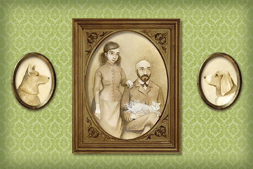 Wedding Portrait Illustration - The Family