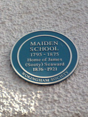 Photo of James Seaward blue plaque