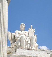 Statute outside the Supreme Court Building in Washington, DC (Mysophie08) Tags: washingtondc zz