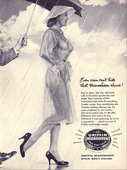 shoe polish see thru outfit (x-ray delta one) Tags: illustration vintage ads advertising ad suburbia retro nostalgia 1940s 1950s americana populuxe shoepolish sexsells magazineillustration