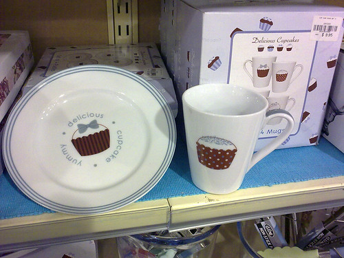 cupcake dish and plate