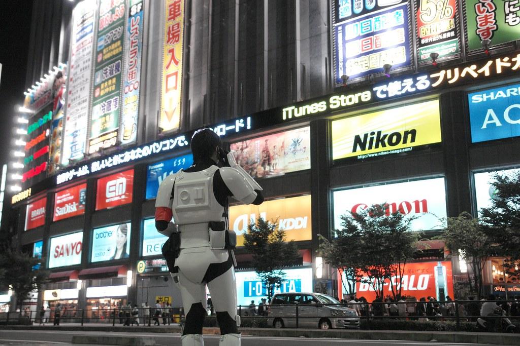 dannychoo (Imperial Storm trooper) in fornt of Yodobashi AKIBA