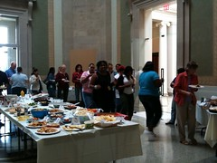 APhA staff enjoys the end of summer staff potluck
