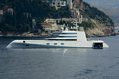 I like James Bond. I like boat. I buy it.....:D (ilah ) Tags: old city wall mediterranean view yacht rich croatia vista russian grad med fortress dubrovnik stari rediculous andrey oligarch hvratska melnichenko motoryachta