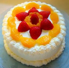 """Chinese Sponge Cake aka """"Chinese Birthday Cake"""""""