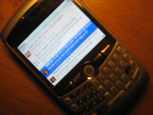 Ubertwitter sur Blackberry Curve
