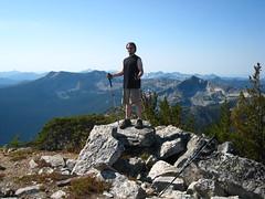 Caleb on the summit of Parker Peak, Selkirk Mountains, North Idaho.