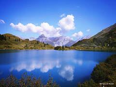 Titlis (Berglind R) Tags: blue sky lake mountains water clouds switzerland natuer titils