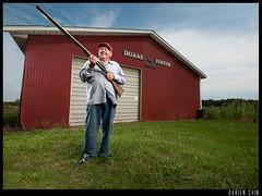 Uncle Duane (Darien Chin) Tags: family portrait mi barn corn nikon michigan farm sigma shotgun darien 1020mm softbox chin soybeans 1959 greatuncle merrill lightroom vagabond cs4 whitelightning lcsmith d90 pocketwizards x1600 strobist x3200 wwwdarienchincom duanefoster