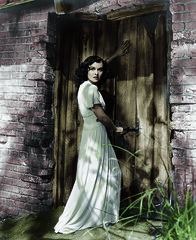 Paulette Goddard in colour (simon.garner1) Tags: colour photoshop paulettegoddard catandthecanary