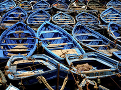 Blue (_straybullet) Tags: blue sea boat fishing meer ship boote fisher essaouira marokko fischer