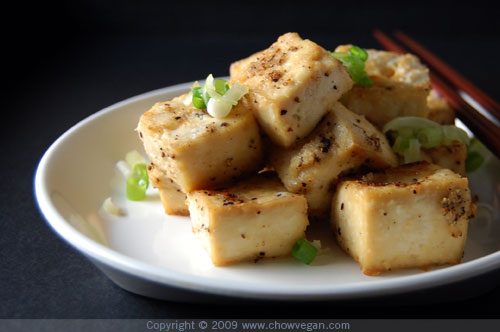 VeganMoFo: Salt and Pepper Roasted Tofu