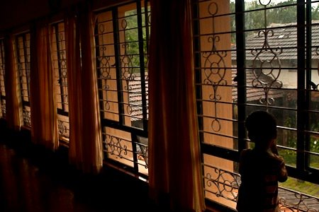 Chitra Aiyer - Overlooking the courtyard, Ammadi homestay