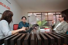 Juanita León, Javier Eduardo Revelo y Mauricio Garcia Villegas