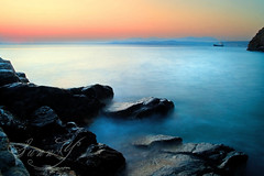 Silky Sea (Pink Pixel Photography (f.k.a. Sunny)) Tags: longexposure sea sunrise missing you greece crete polarizer sigma1770mm canoneos400d ndx8filter wwwpinkpixelat pinkpixelphotography