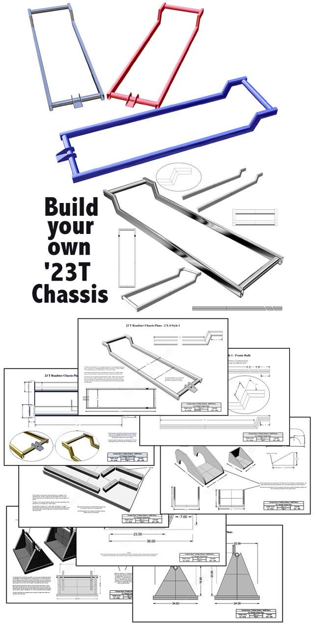 23 T Bucket Frame Plans http://www.ebay.com/itm/23-T-Bucket-Roadster-Chassis-Frame-Plans-Rat-Rod-/180726712809