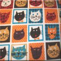 Cats in a Box French Terry Knit